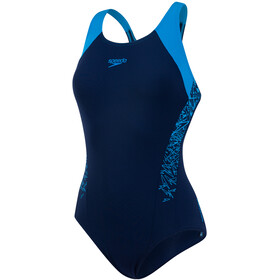 speedo Boom Splice Racerback Swimsuit Women Navy/Winsdor Blue